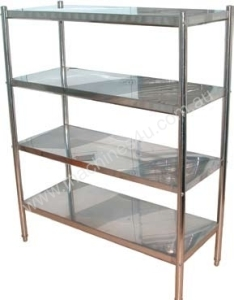Stainless Rack 4 shelves, punch rack, Kitchen Stainless